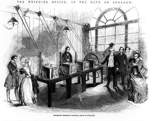 Sovereign Weighing Machine, Bank of England