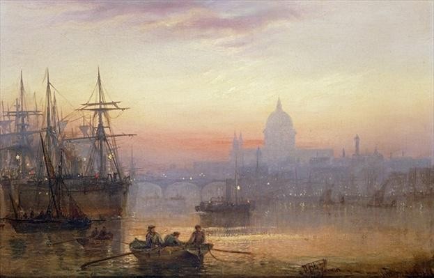 The Pool of London at Sundown, 1876