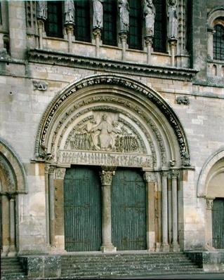 Central Portal of the Abbey Church, 1096-1106, reconstructed by Viollet-le-Duc in 1845