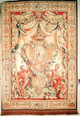 Portiere with the coat of arms of Louis-Antoine de Pardaillan de Gondrin, Duke of Antin, Gobelins factory, 1708-36
