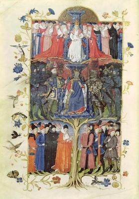 Ms 2695 f.6v The Tree of Battles: King Charles VII