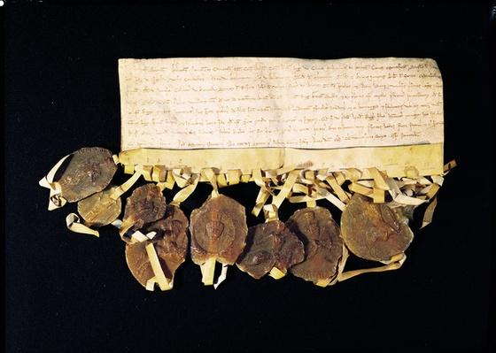 Letter from the prelates and barons of the king promising Louis VIII