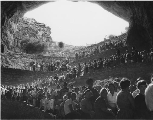 Tourists Crowd Entrance of Carlsbad Caverns National Park, 1960 | Ken Burns: The National Parks