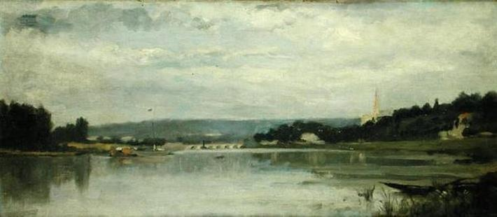 On the banks of the Seine at Saint-Cloud, c.1880