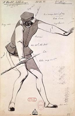 Costume design for an Acrobat in 'Benvenuto Cellini' by Hector Berlioz