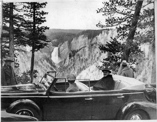Franklin Roosevelt, Yellowstone National Park, 1937 | Ken Burns: The National Parks
