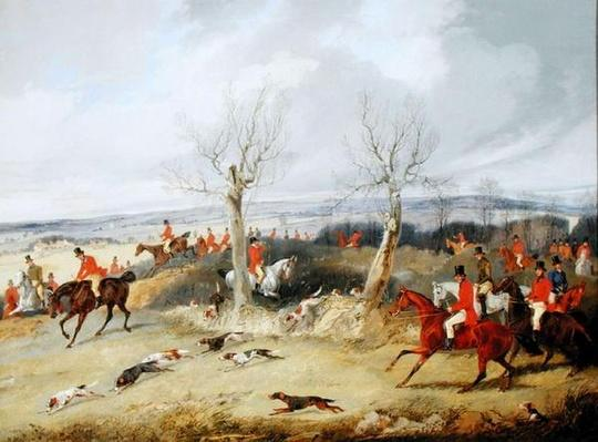 Hunting Scene, In Full Cry
