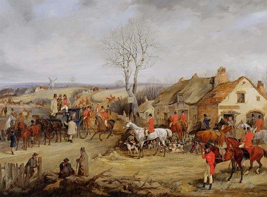 Hunting Scene, The Meet