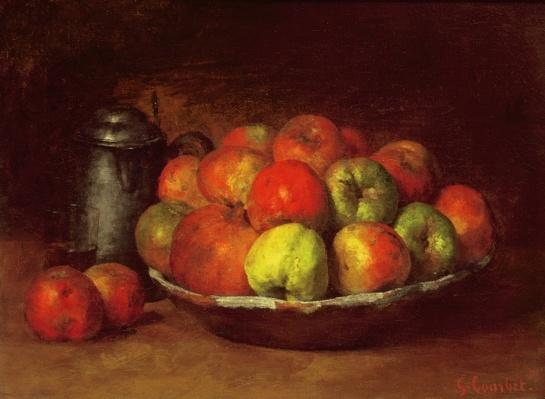 Still Life with Apples and a Pomegranate, 1871-72