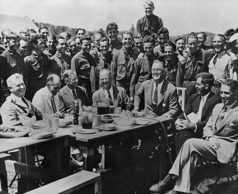 Franklin Roosevelt at CCC Camp, Shenandoah National Park, 1933   Ken Burns: The National Parks