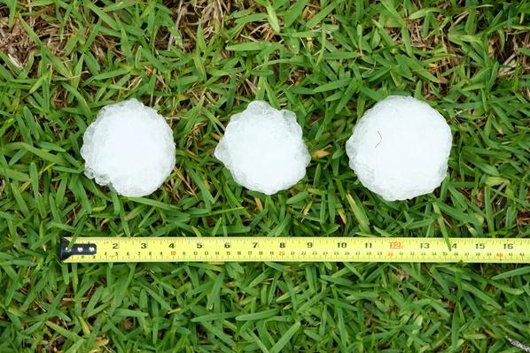 Baseball Size Hailstones | Weather