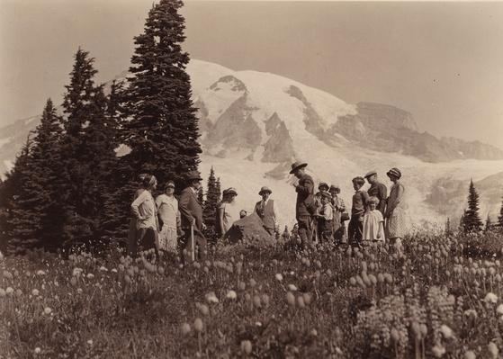 Ranger Leads Tourists on Nature Walk, Mount Rainier National Park | Ken Burns: The National Parks