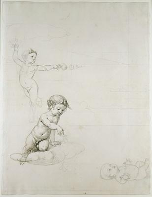The Two Rose Genies and the Baby in the Field, 1807/08