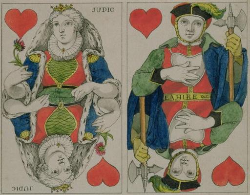 Design for playing cards, c.1810