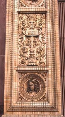 Detail of the facade of the Hamburger Kunsthalle