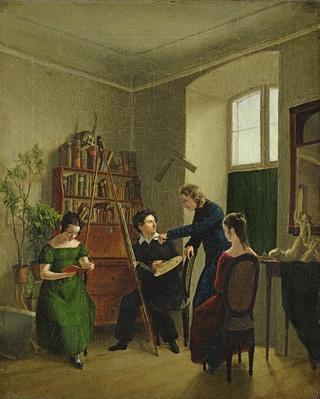 The Artist in His Studio, 1828
