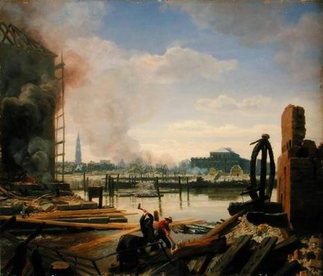 Hamburg after the Fire of 1842, 1842