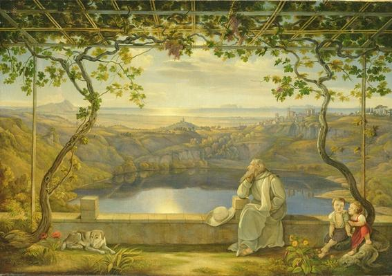 A Monk on a Terrace at the Nemi Lake, 1818