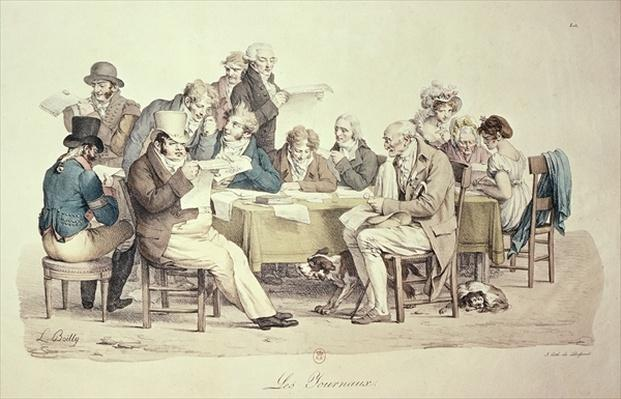The Newspapers, engraved by Francois Seraphin Delpech