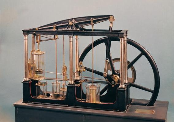 Reconstruction of James Watt's steam engine, 1781
