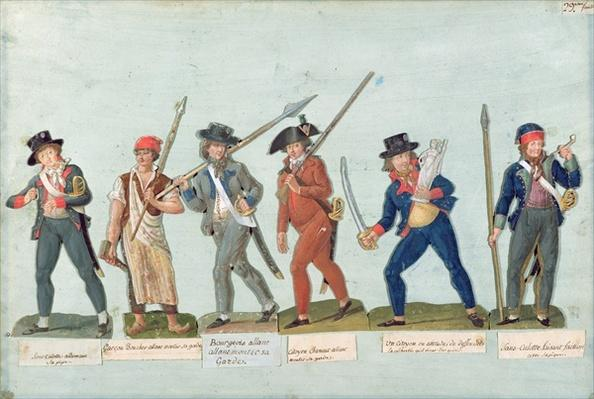 Sans Culotte Lighting his Pipe, Young Butcher, Bourgeois Going to Guard, Huntsman, Citizen Defending his Liberty, Sans Culotte Keeping Guard