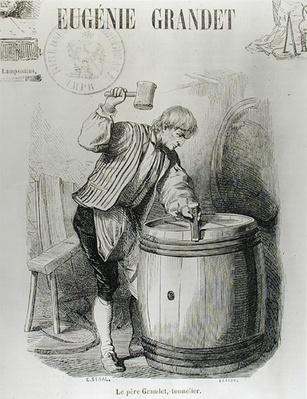 Father Grandet, the Cooper, illustration from 'Eugenie Grandet' by Honore de Balzac