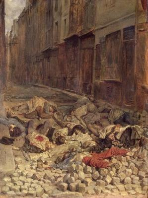 Barricade in the Rue de la Mortellerie, June 1848