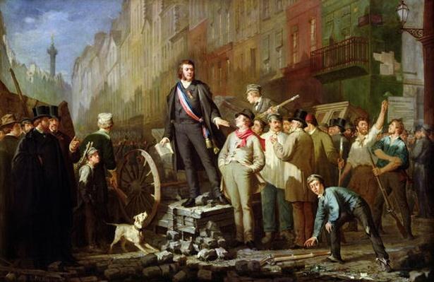 Alphonse Baudin on the Barricade of Faubourg Saint-Antoine, 3rd December 1851