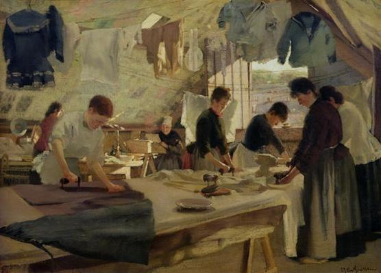 Ironing Workshop in Trouville, 1888