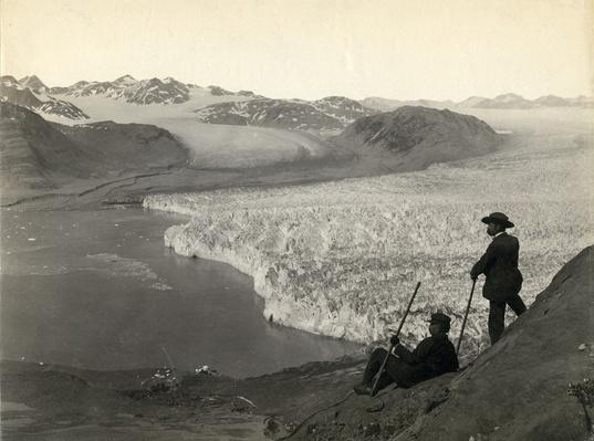 Tourists at Muir Glacier, Glacier Bay, Alaska, 1893 | Ken Burns: The National Parks