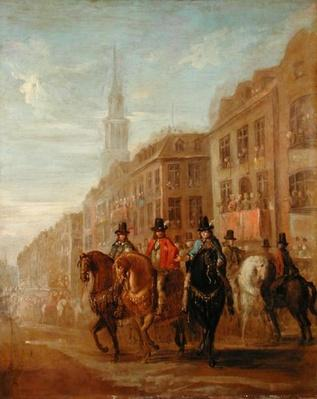 Restoration Procession of Charles II at Cheapside, c.1745