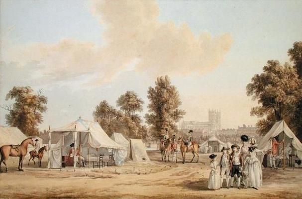 An encampment in St. James's Park