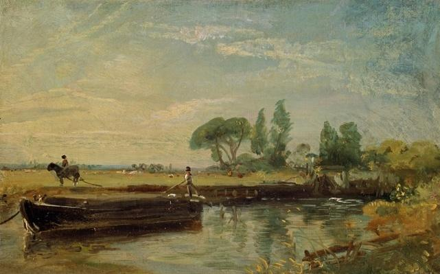 A Barge below Flatford Lock, c.1810
