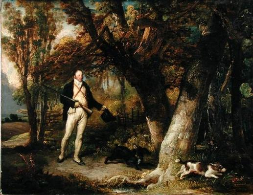 Portrait of the Rev. Thomas Levett and Favourite Dogs, Cock-Shooting, 1811