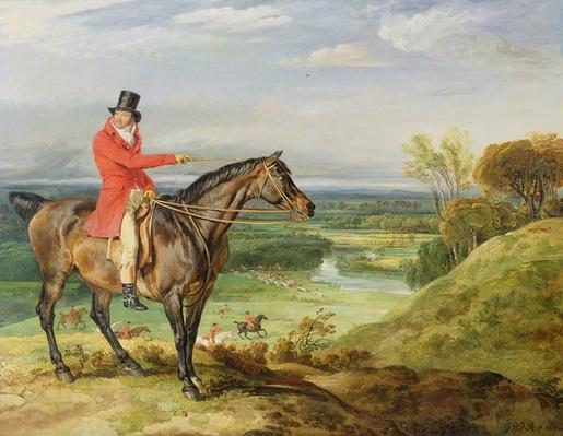John Levett hunting in the Park at Wychnor, Staffordshire, 1814-18