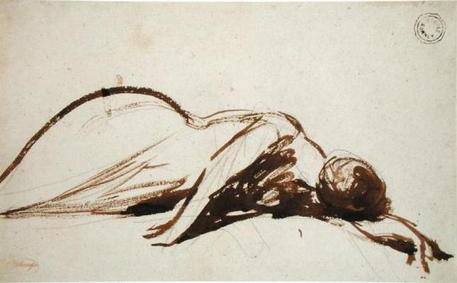 Prostrate Woman