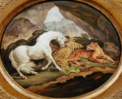 A Horse Frightened by a Lioness after George Stubbs