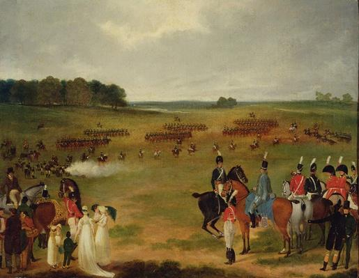 A Review of the London Volunteer Cavalry and Flying Artillery in Hyde Park in 1804, c.1804