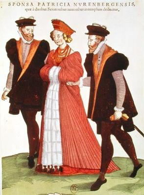 Woman from Nuremburg Being Escorted to the Temple by Two Senators, 1572