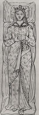 The Recumbant Eleanor of Aquitaine