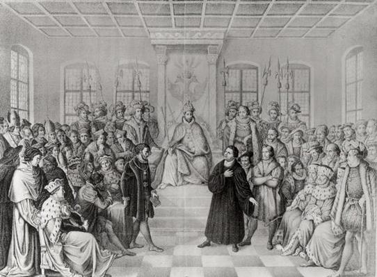 Martin Luther in front of Charles V
