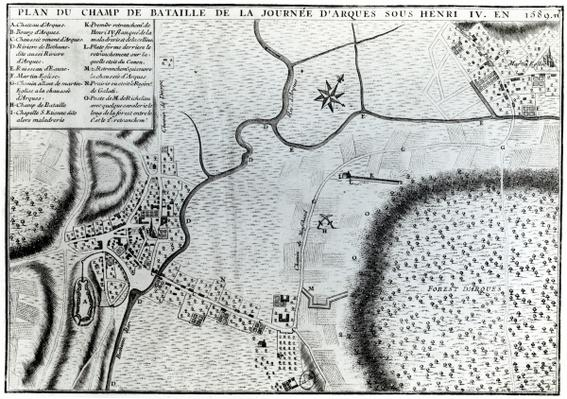Field Plan for the Battle of Arques