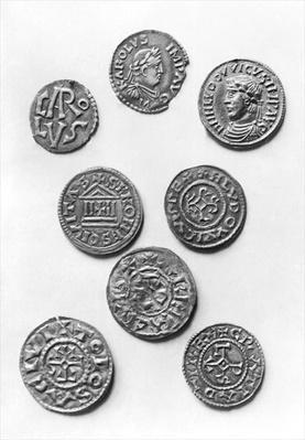 Eight Carolingian coins