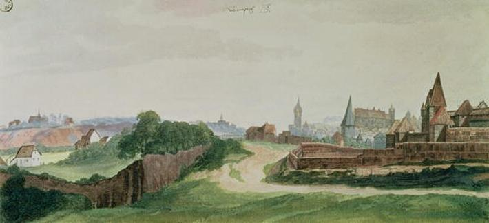 View of Nuremberg, 1496-97
