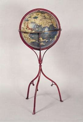 Terrestrial Globe, showing the Indian Ocean, made in Nuremberg, 1492