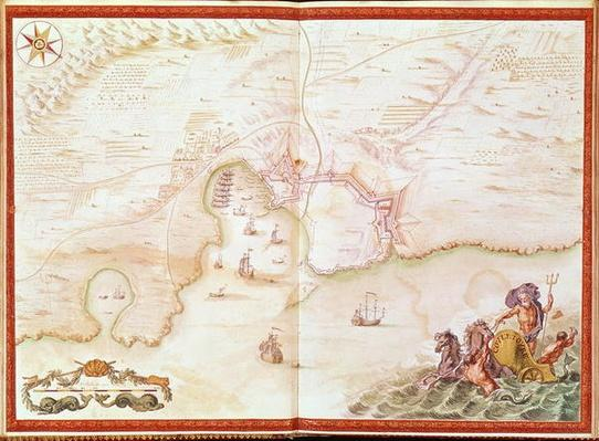 Ms. 986, Vol.1 'Louis XIV Atlas', map of Collioure, 1683-88