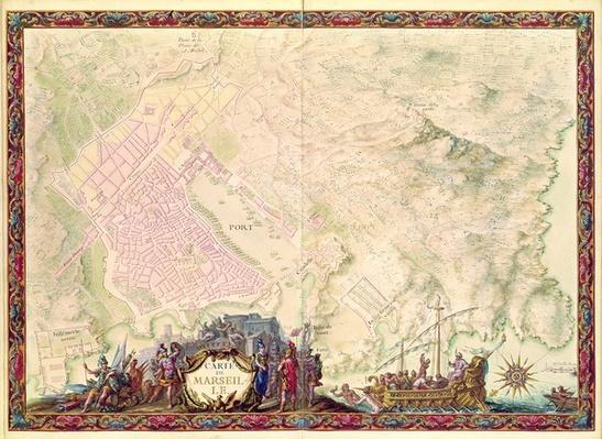 Ms. 988 Vol.3, fol.61 'Louis XIV Atlas', map and plan of Marseille, 1683-88