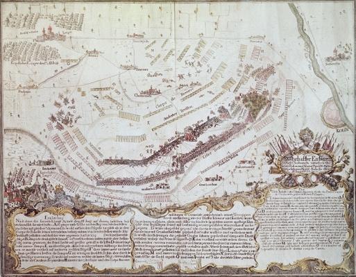Battle of Kolin in Bohemia, 18th August 1757