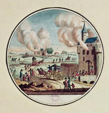 The Pillage and Destruction of Chateaux and the Emigration of Princes and Courtiers in July 1789