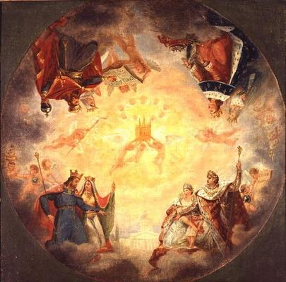Glory of St. Genevieve, study for the cupola of the Pantheon, c.1812